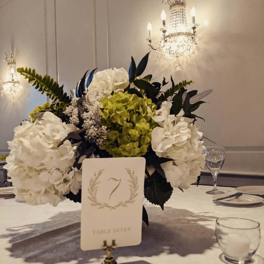 beautiful white flower arrangement